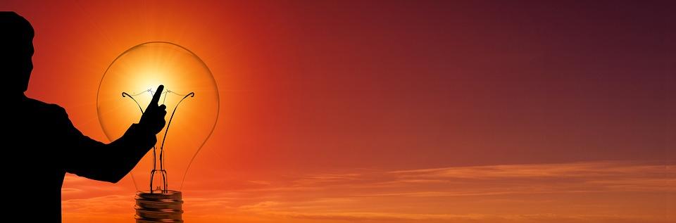 žiarovka, obloha