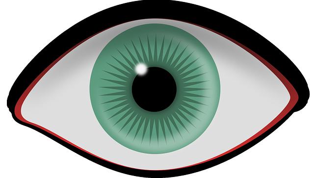 kreslené oko