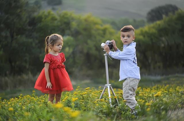dítě jako fotograf